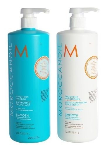 Moroccanoil Smooth Anti Frizz Shampoo + Acondicionador X1000