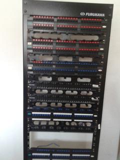 Rack Vertical Completo De Rede Telefonia Furukawa