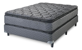 Nuevo Conjunto Piero Mattina Black 160x200x27 (resortes)