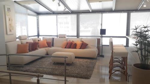 Imagem 1 de 29 de Cobertura Duplex Mobiliada  Alto Padrão Com 3 Dormitórios No Centro - Co0667