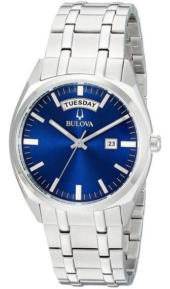Relógio Bulova Daydate Classic Presidente Azul 96c125