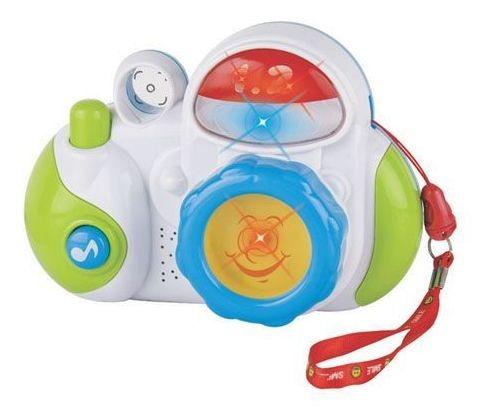 Brinquedos Para Bebês Maquina Fotográfica Som E Luz Yes Toys