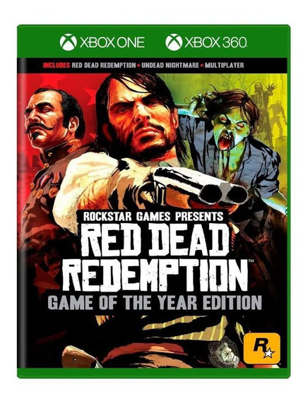 Red Dead Redemption Goty Xbox360 E Xbox One + Dlcs Lacrado