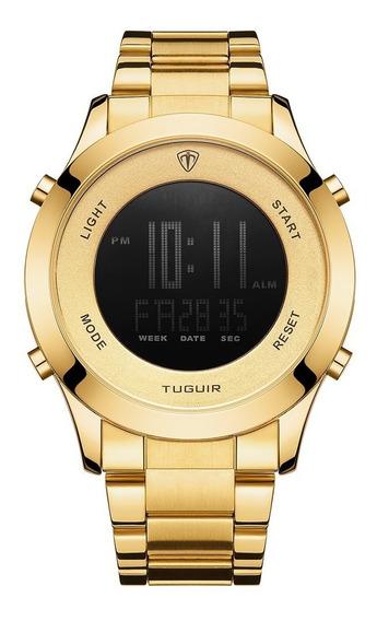 Relógio Masculino Tuguir Digital Tg103 Dourado