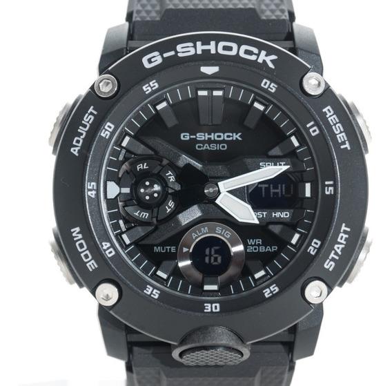 Relógio G-shock Ga 2000s Preto Ga 2000 Carbono Lançamento
