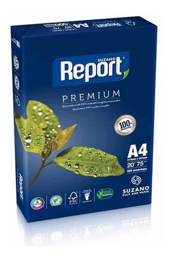 Resma Papel A4 75 G 500 Hojas Report Premium X Unidad