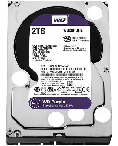 Imagen 1 de 4 de Disco Duro 3.5 2tb Wd Purple 64mb Vigilancia Envio Fast