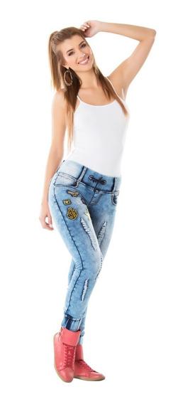 Pantalones Jeans Juveniles Tipo Jogger Stretch Didijin