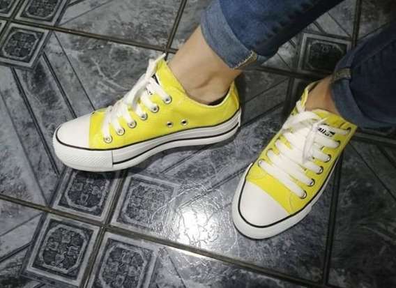 converse amarillas mujer 36