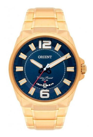 Relógio Orient Masculino Dourado Mgss1157 D2kx Original