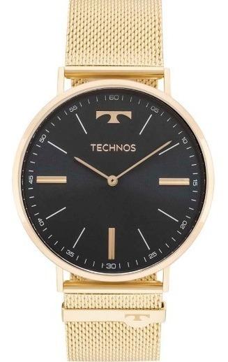 Relógio Technos Masculino Slimdourado Esteira