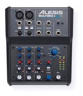 Mixer Alesis Mm4-ufx Multimix 4 Canales Usb