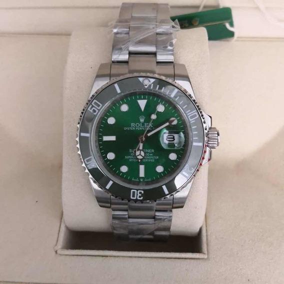 Relógio Masculino R Submariner Verde - Com Caixa Verde