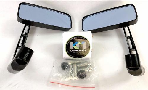 Espejos Retrovisores Para Moto Puño Cuadrado Metálico Co 8