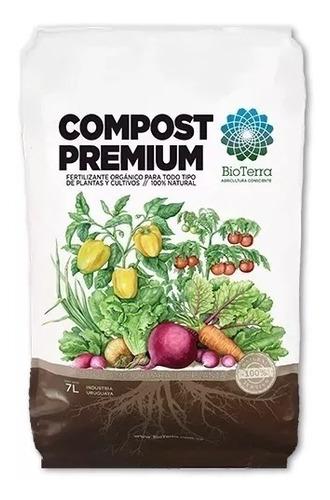 Imagen 1 de 8 de Compost Premium Orgánico Sustrato 20 Lts Huerto Jardín