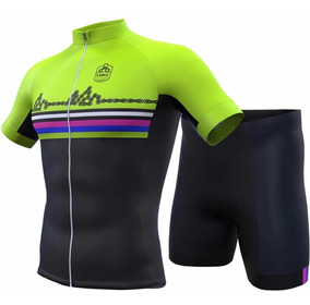 Traje Ciclismo Set Completo Inbike Jersey+short Green Chain