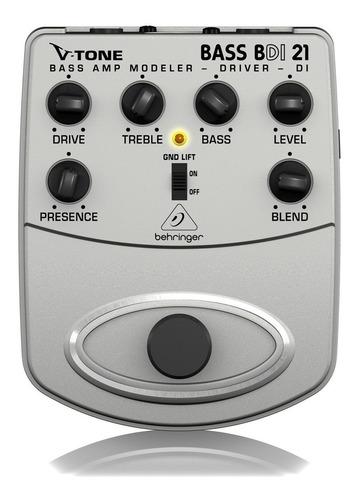Preamplificador De Bajo Behringer Bdi21 V-tone Premium