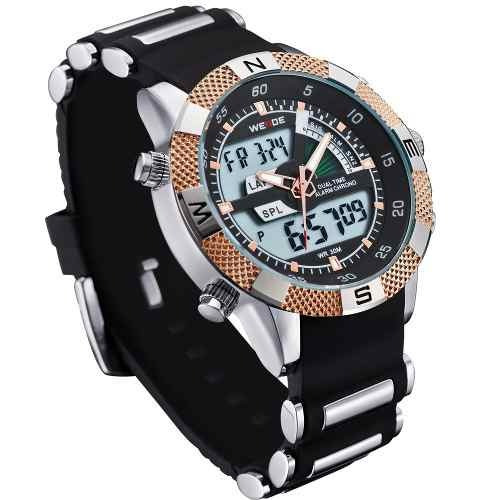 Relógio Masculino Pulso Weide Led Digital Wh-1104 Promoção