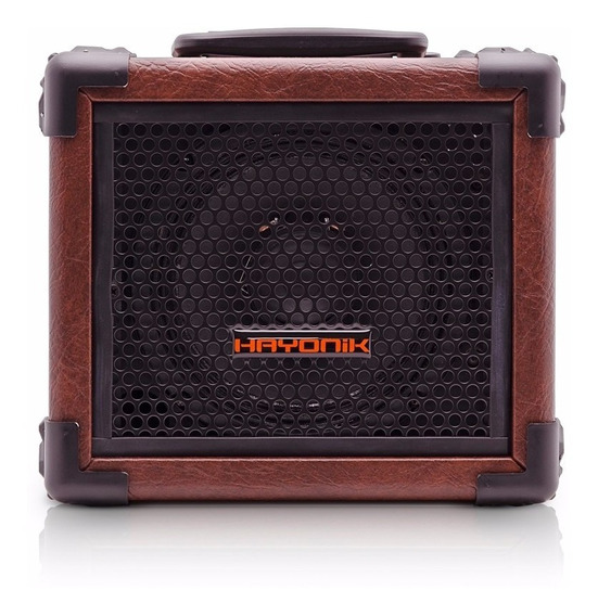 Caixa Multiuso Usb Fm Sd Iron80 20w Bluetooth Marrom Hayonik