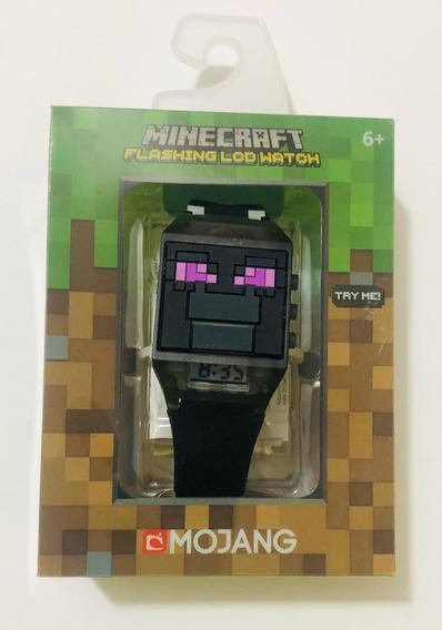 Reloj Minecraft Flashing Lcd Watch Nuevo Original Negro