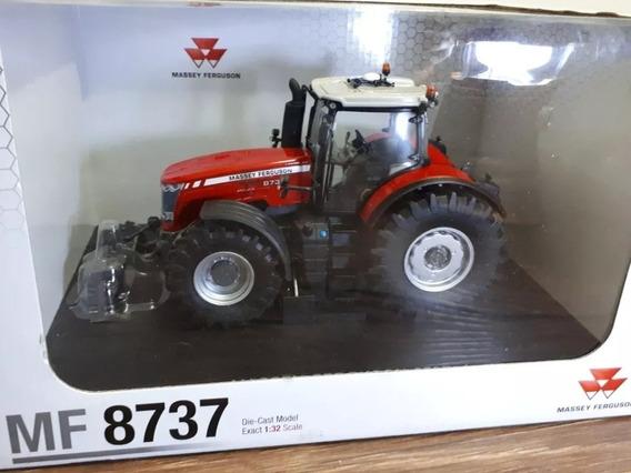 Miniatura Trator Agrícola Massey Ferguson 8737 - Escala 1/32
