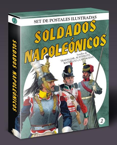 Militaria / Arte. Soldados Napoleónicos. Set Postales Nº 2