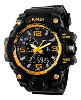 Reloj Militar Alarma S-shock Skmei Luz Sumergible V Colores