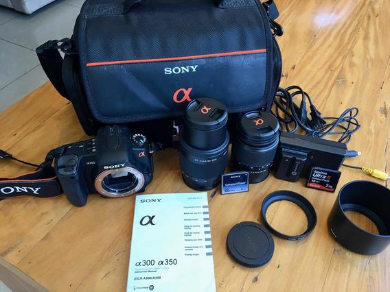 Câmera Profissional Sony Alpha Dslr-a350 14.2mp + 2 Lentes