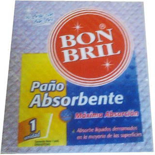 Paño Esponja De Fibra Absorbente Bon Bril X6