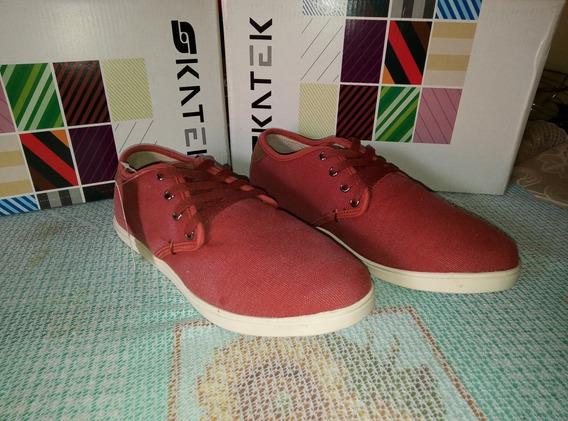 Zapatos Casuales Skatek Ladrillo Talla 7us, 39 Eur / 8us,41