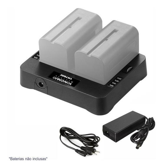 Carregador Duplo P/ Baterias Sony Np-f | Yongnuo Yn750c