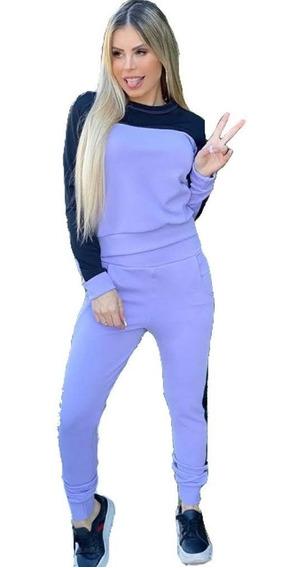Conjuntos Femininos Frio Blusa + Calça Inverno Confortável