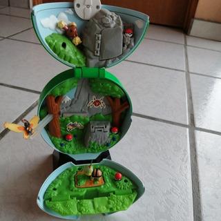 Diorama Pokebola Con 3 Figuras Pokemon Jakks 2009