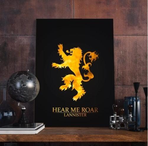 Kit 3 Placa Decorativa Game Of Thrones