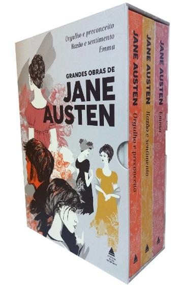 Box Livro Grandes Obras De Jane Austen - 3 Vol. - Lacrado