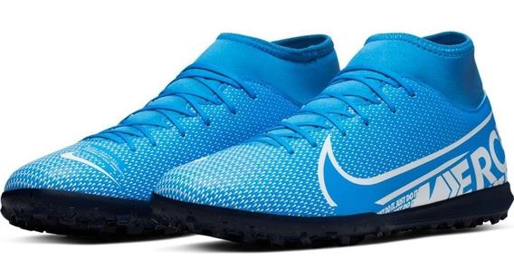 Chuteira Nike Mercurial Jr Superfly 7 Club Tf + Nf