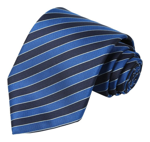 Tall Men Navy Corbata Extra Larga Corbata A Rayas Azule...