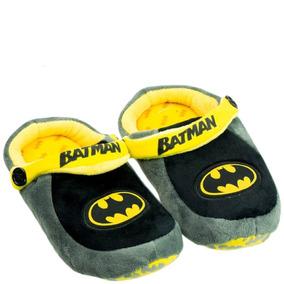 f9a6e533b37e90 Pantufa Batman Infantil Ricsen Pantufa Batman Cinza
