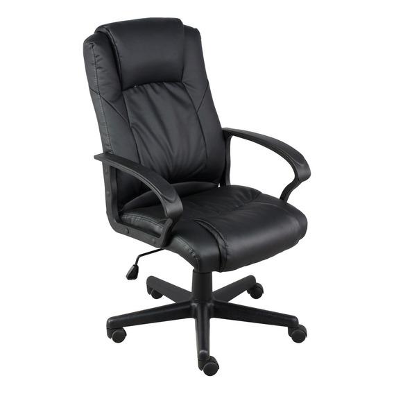 Cadeira Escritorio Airon Presidente Preta Relax Giratoria