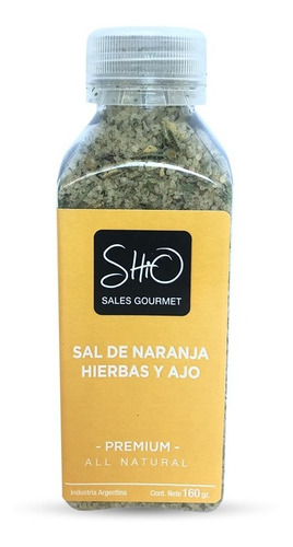 Imagen 1 de 5 de Sal Gourmet Shio De Naranja, Hierbas & Ajo X160g