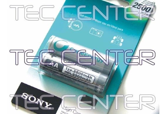 Pilha Bateria Sony Aa Recarregável 2500mah C/2 - Original!