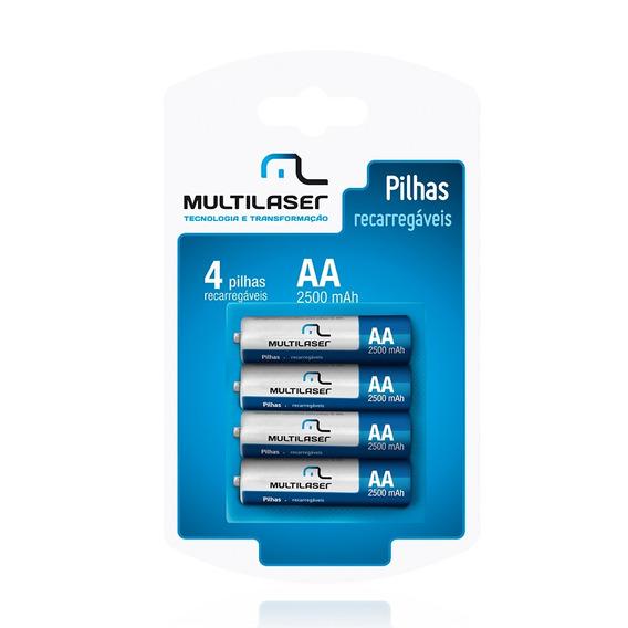 Pilhas Recarregáveis Multilaser Cb052 Tipo Aa 4 Unidades
