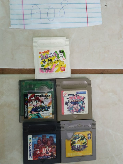 Lote Gameboy Color 5 Jogos A08