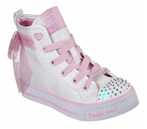 Zapatillas Niña Skechers Caña Alta Con Luces Twinkle Lite