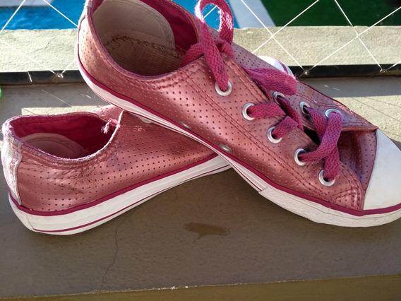Zapatillas Converse Rosa Metalizada Nena Talle 31