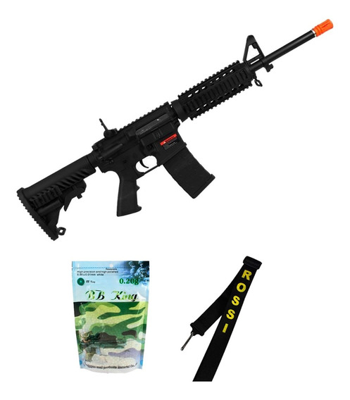 Rifle Airsoft M4a1 Kompetitor A.p.s Gbb + Bandoleira + Bbs