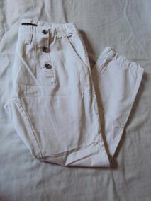 Calça Saruel Branca Masculina Central Man Tamanho 40