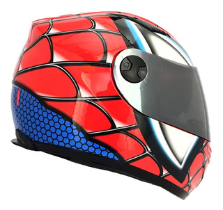 Casco Integral R7 Ff830 C/lente Spiderman Ece22.05