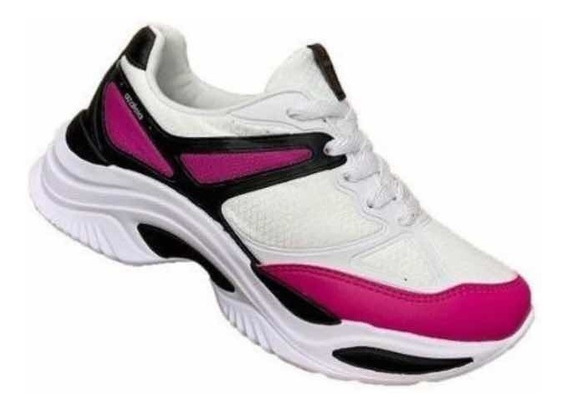 Tênis Azaléia Chunky Sneaker Feminino + Meia De Brinde !!! !