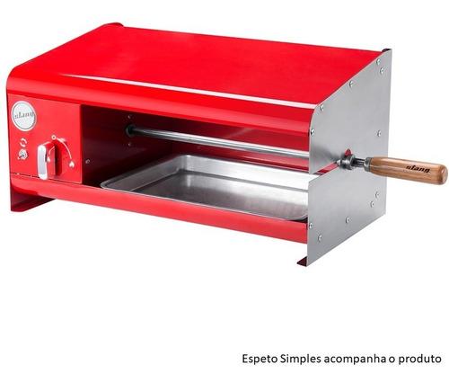 Churrasqueira Elétrica Compacta Casal 01 Espeto 220v- Verm